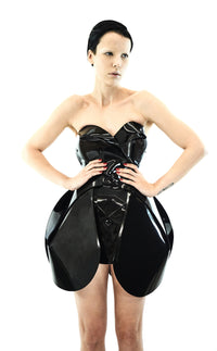 Jivomir Domoustchiev Little Black Vinyl sculpture art dress