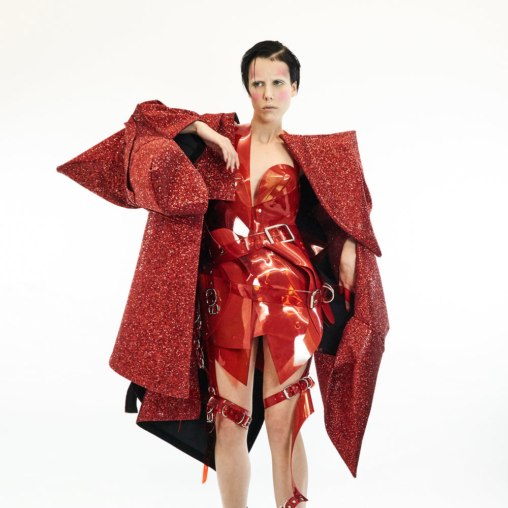 Jivomir Domoustchiev re imagined Star Glitter Coat SS19