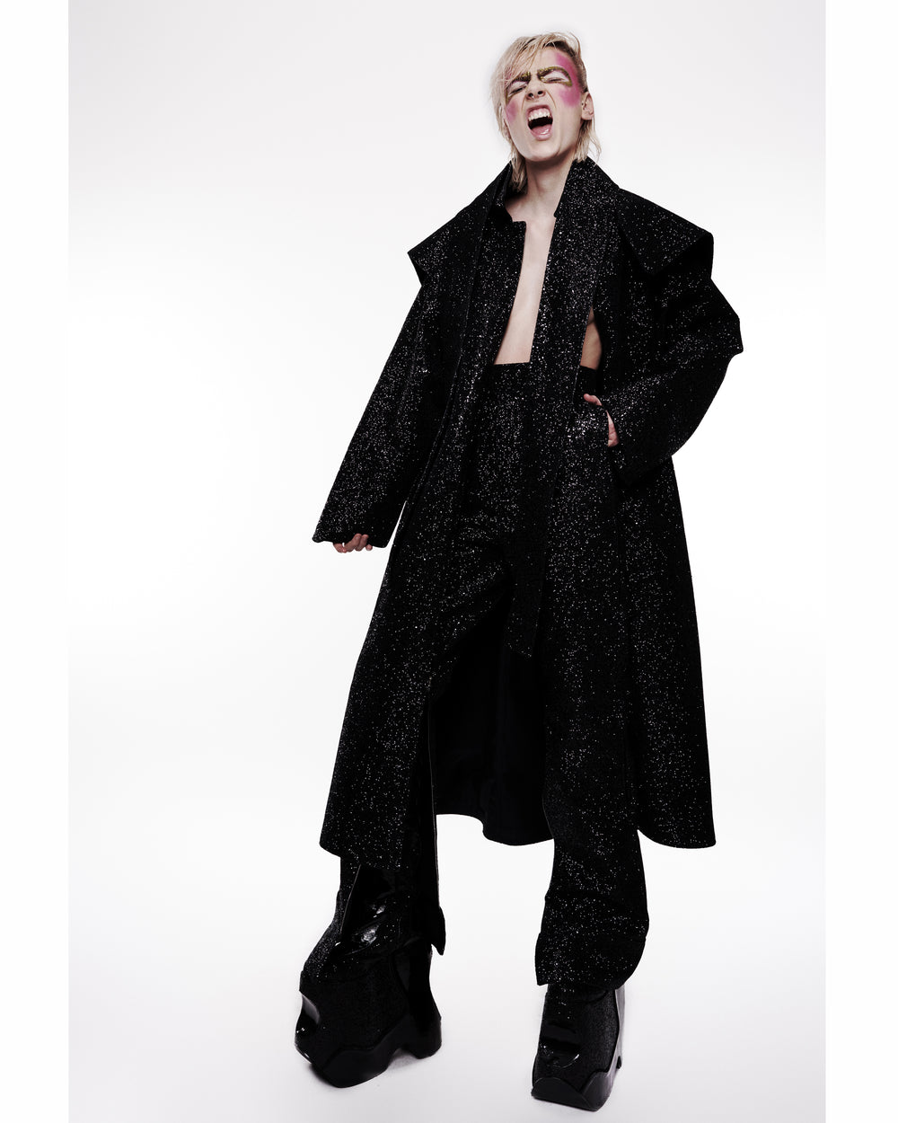 Jivomir Domoustchiev Glitter Coat - Collection V