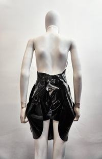 Jivomir Domoustchiev Black twisted sculpture bustier and skirt shown as dress