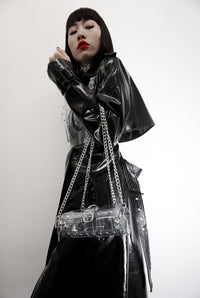 The Chrystal - Jivomir Domoustchiev clear vinyl studded chain bag