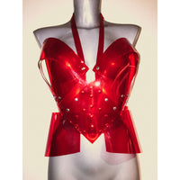 Heart Shaped Red Clear PVC Bustier