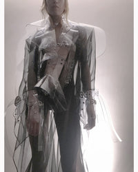 Jivomir Domoustchiev vegan vinyl sculpture jacket transparent fashion future fetish kink couture robot love design luxury vogue