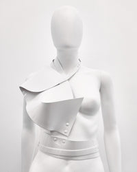 Jivomir Domoustchiev vinyl sculpture half harness belt white