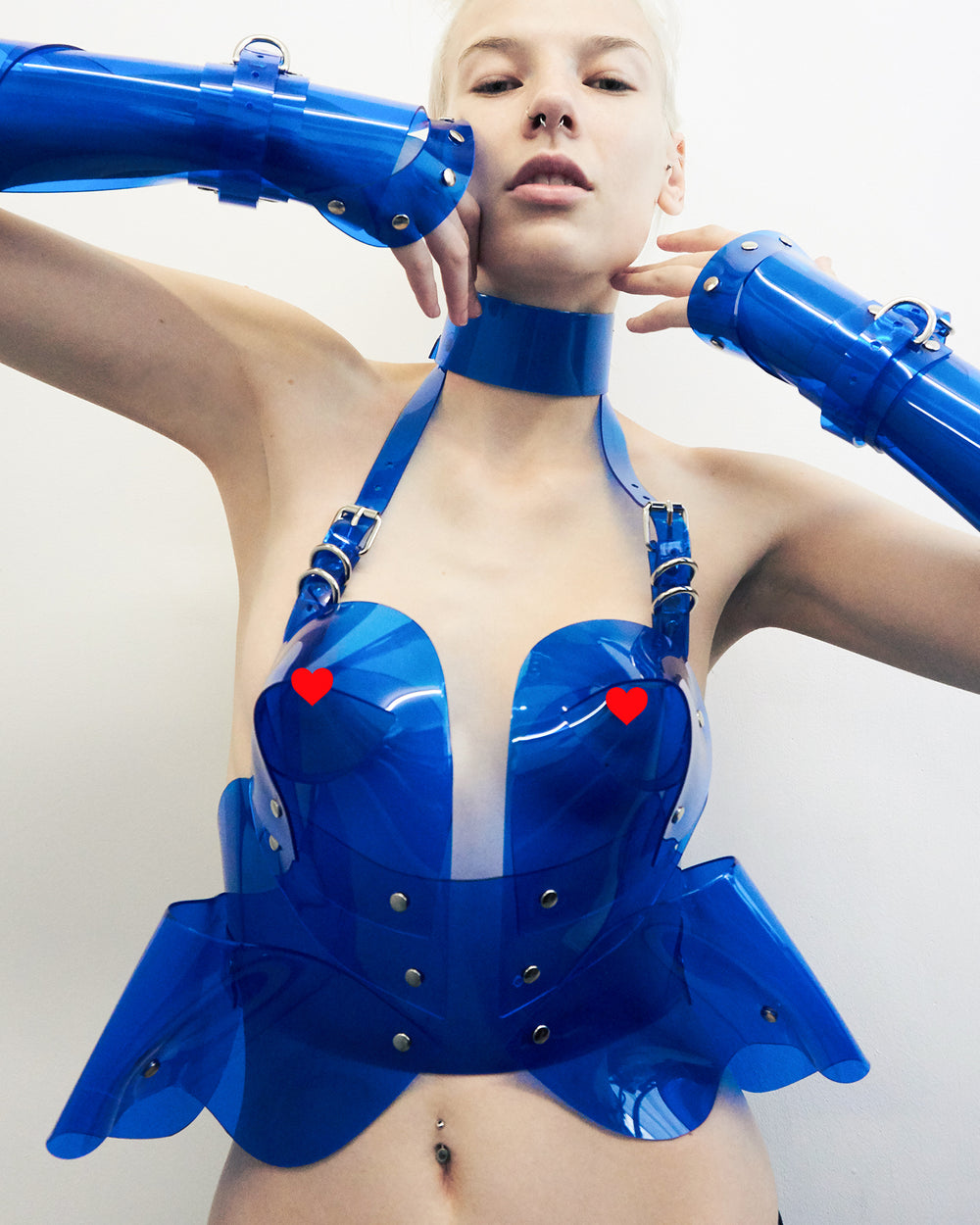 Jivomir Domoustchiev all NEW vinyl body sculpture bustier