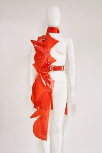 Jivomir Domoustchiev sculpture half dress superhero cosplay luxury future design love modernity vegan couture