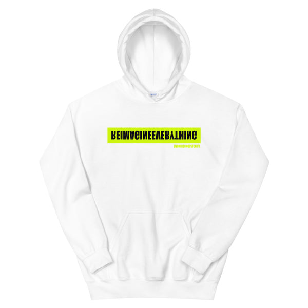 Jivomir Domoustchiev REIMAGINEEVERYTHING neon print hoodie must have collectible designer