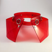 Clear Red PVC Wide Belt