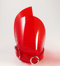 Clear Red PVC Knee Pads