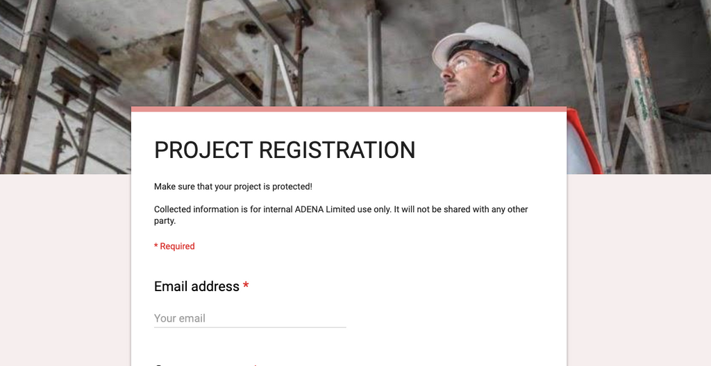 Secure your work with project registration