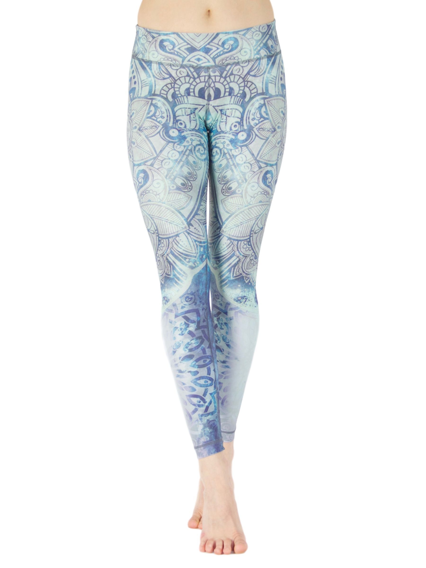 Namastey Leggings - Colorful Artistic Yoga Pants for Women.