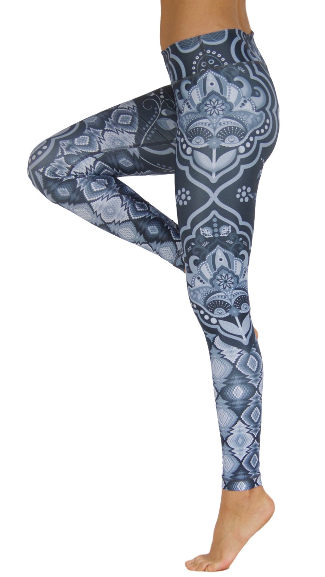 Yin and Yang Black by Niyama - High Quality, Yoga Legging for Movement Artists.