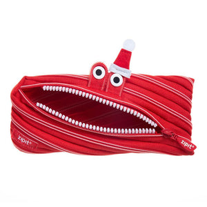 Christmas Monster Pouch Pencil Case ZIPIT Red