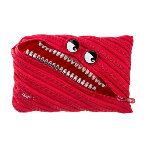 Grillz Jumbo Pouch Big Pencil Case ZIPIT Red