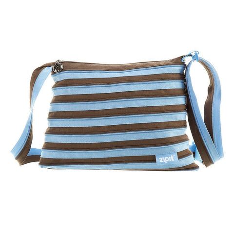 Zipper Shoulder Bag Shoulder Bag ZIPIT Blue & Brown