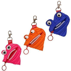 Monster Mini Pouch 3-Pack (Blue, Orange, Pink)
