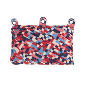 Pixel 3 Ring Pouch 3 Ring Pencil Case ZIPIT Pixel Blue and Red