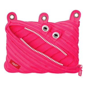 Monster 3 Ring Pouch 3 Ring Pencil Case ZIPIT Dazzling Pink