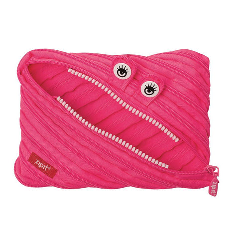 Monster Jumbo Pouch Big Pencil Case ZIPIT Dazzling Pink
