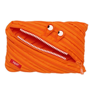 Monster Jumbo Pouch Big Pencil Case ZIPIT Orange