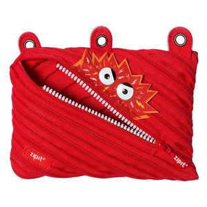 Monstar 3 Ring Pouch 3 Ring Pencil Case ZIPIT Red