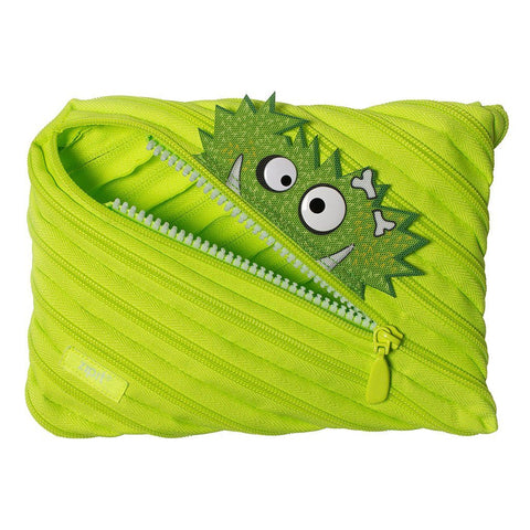 Monstar Jumbo Pouch Big Pencil Case ZIPIT Lime Green