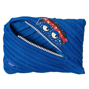 Monstar Jumbo Pouch Big Pencil Case ZIPIT Blue