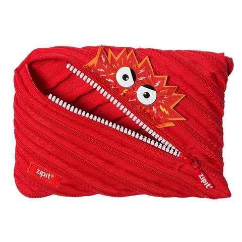 Monstar Jumbo Pouch Big Pencil Case ZIPIT Red