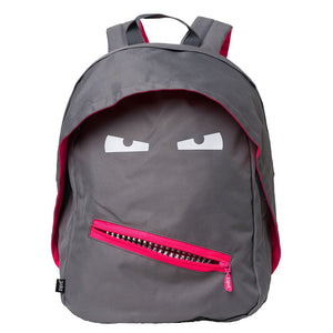 Grillz Backpack Backpack ZIPIT Grey & Pink