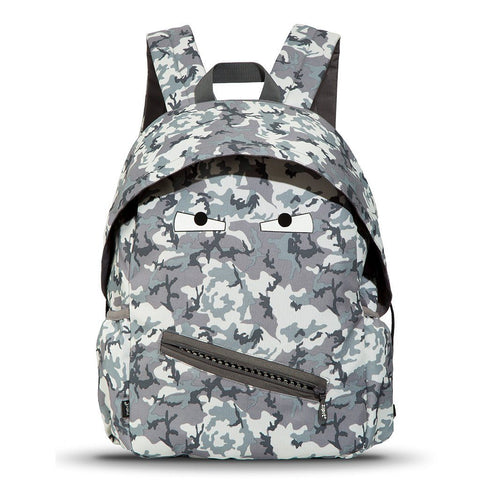 Grillz Backpack with Side Pockets Backpack ZIPIT Grey Camo
