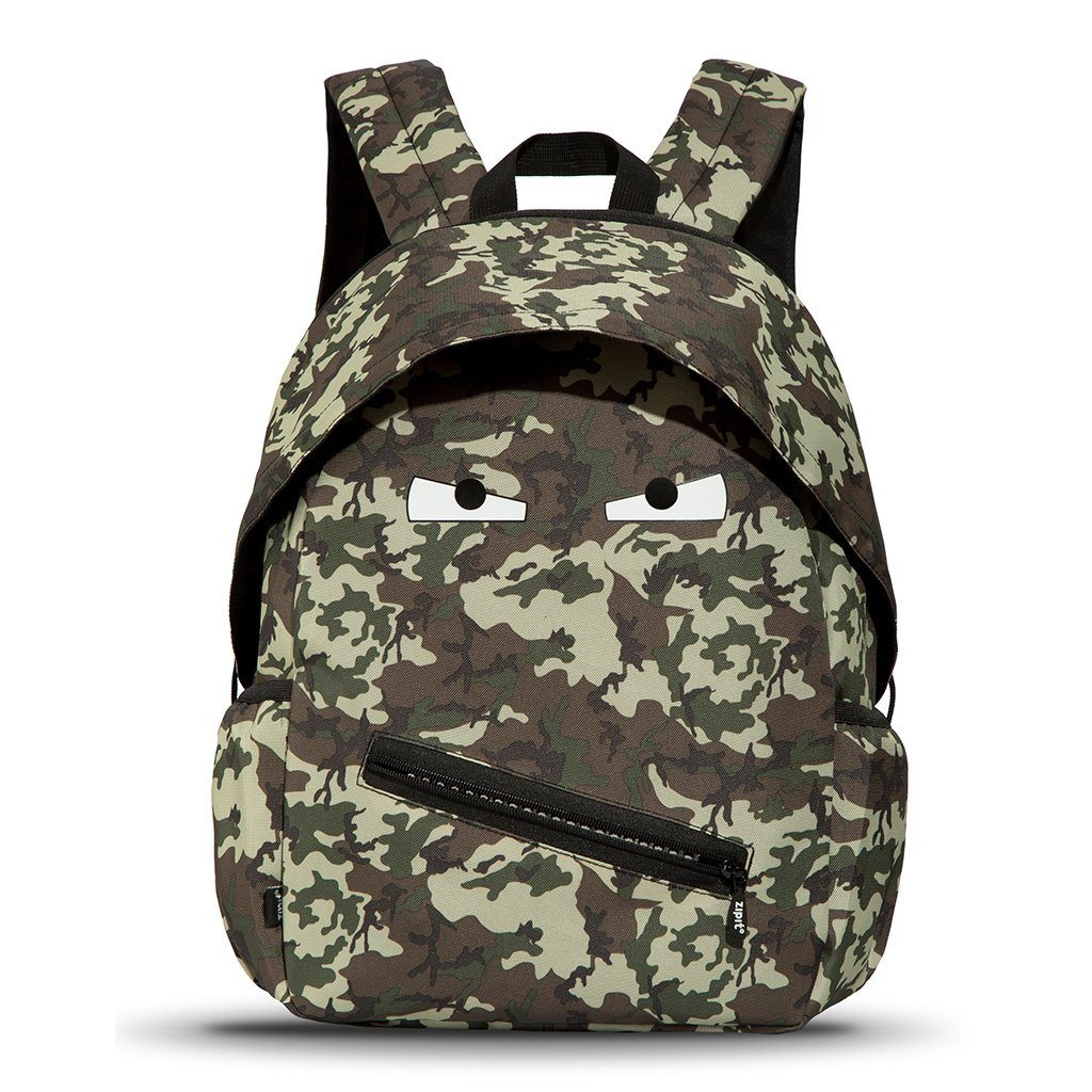 Grillz Backpack with Side Pockets Backpack ZIPIT Green Camo