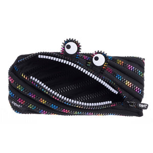Special Edition Monster Pouch Pencil Case ZIPIT Black & Rainbow Teeth