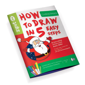 How to Draw Christmas, Drawing Book for Children Booklet ZIPIT Christmas
