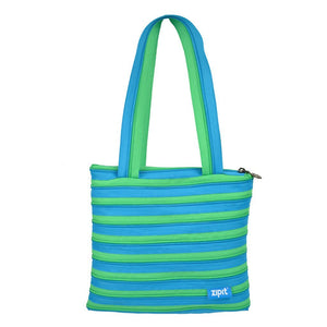 Zipper Small Tote Bag Tote Bag ZIPIT Turquoise & Green