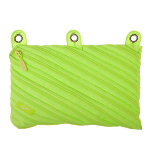Neon 3 Ring Binder Pouch 3 Ring Pencil Case ZIPIT Radiant Lime