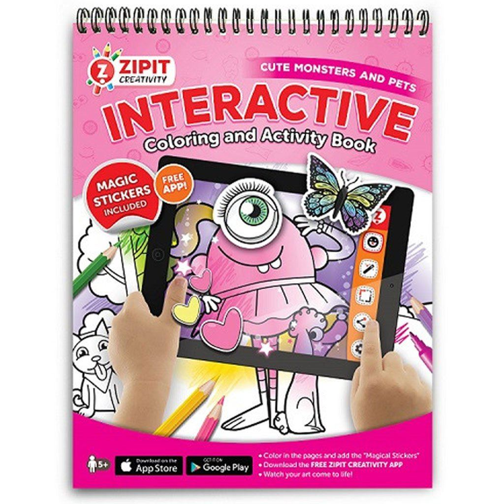 Interactive Coloring and Activity Book, Cute Monsters