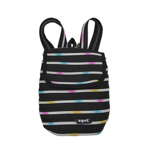Zipper Mini Backpack Backpack ZIPIT Black & Rainbow