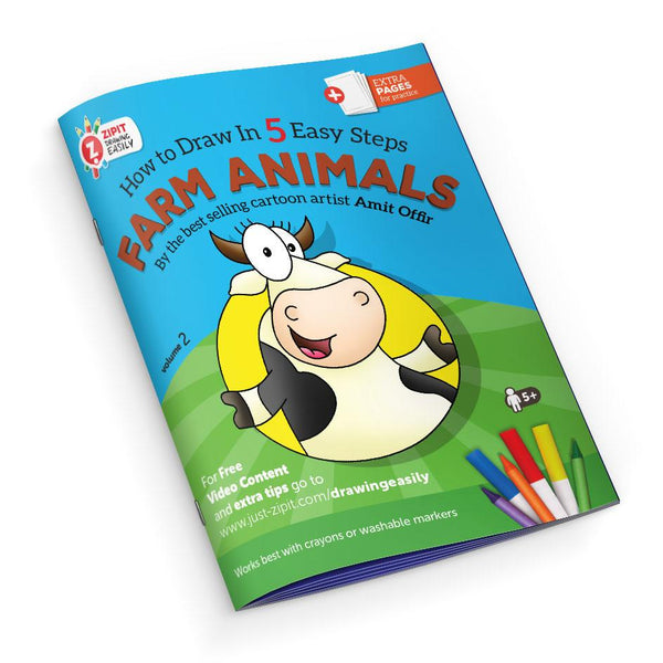 Drawing Easily Digital Printable Booklet - Farm Animals