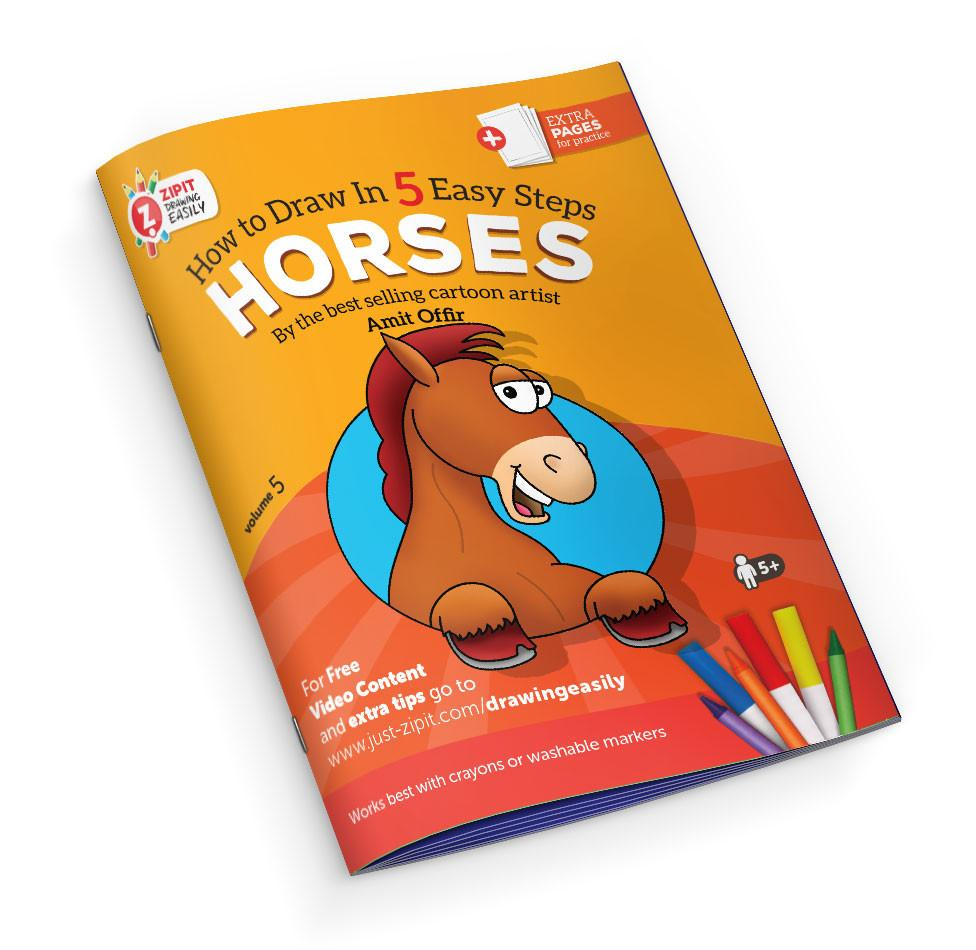 Drawing Easily Digital Printable Booklet - Horses