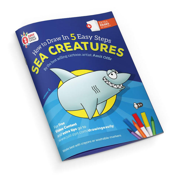 Drawing Easily Digital Printable Booklet - Sea Creatures