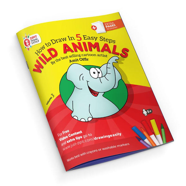 Drawing Easily Digital Printable Booklet - Wild Animals