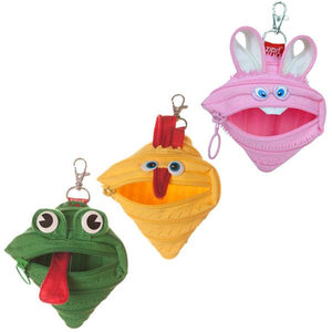 Animals Mini Pouch, 3-Pack (Bunny, Chicken, Frog)