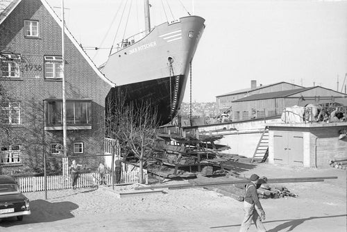 Trockendock in Hamburg 1959