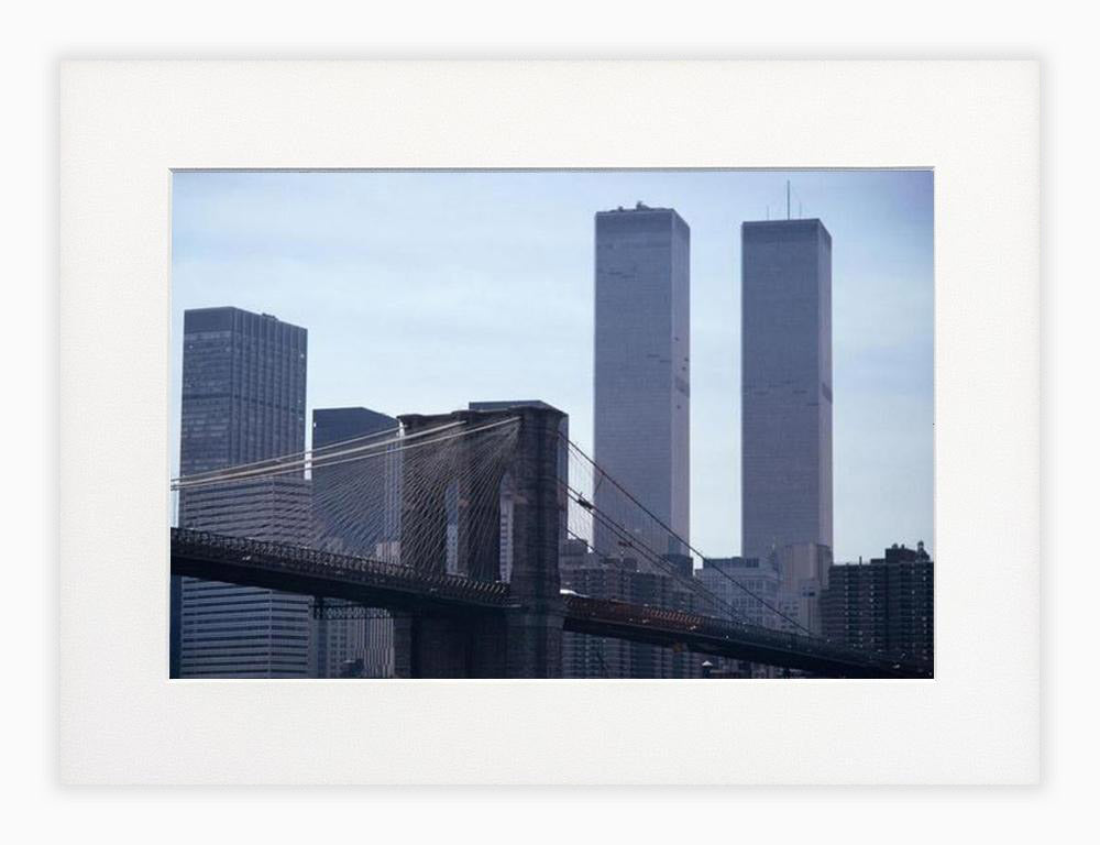 Brooklyn Bridge mit Twin Towers