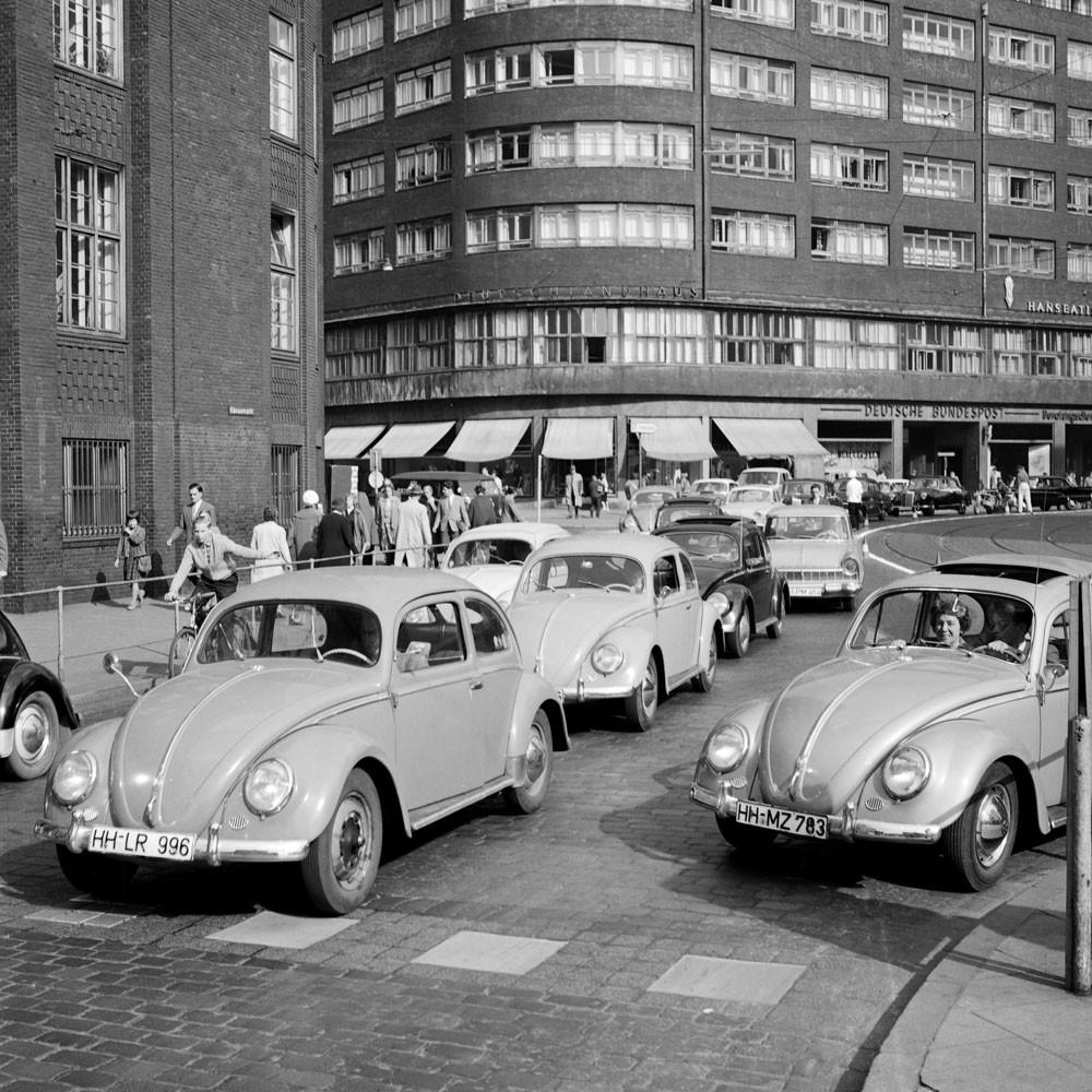 Alte Autos in Hamburg 1959