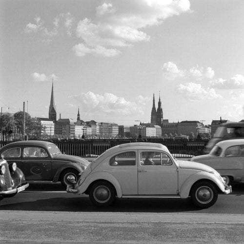 VW Käfer in Hamburg 1963
