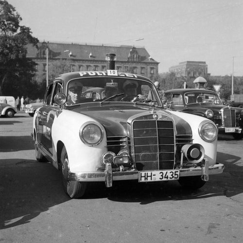Peterwagen in Hamburg 1960