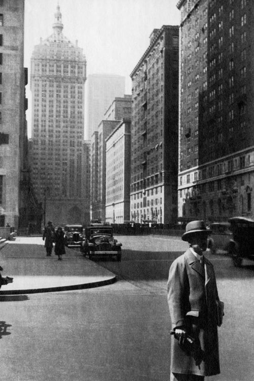 Park Avenue in New York City I - USA 1931 - Fine Art Print mit Rahmen und Passepartout