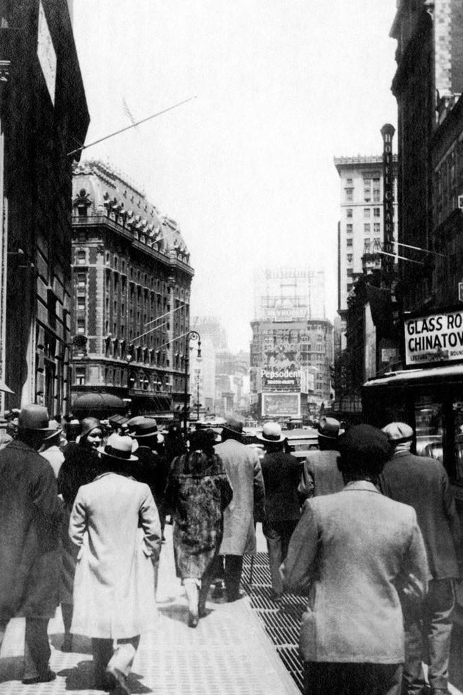 Broadway in New York City - USA 1931 - Fine Art Print mit Rahmen und Passepartout