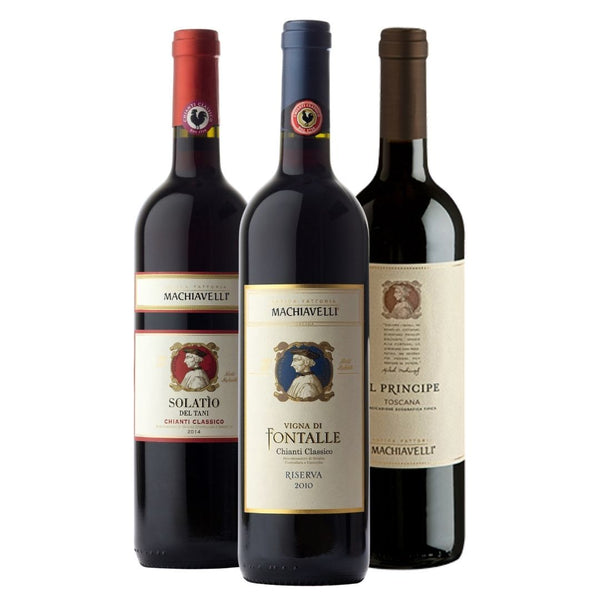Villa Machiavelli Jewels - Five Century of Chianti Classico History Red Wine, 3x750ml, 13% ABV Saraceni Wines
